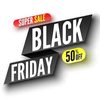 Zwarte vrijdag super verkoop banner.
