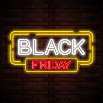Zwarte vrijdag tekst neon teken