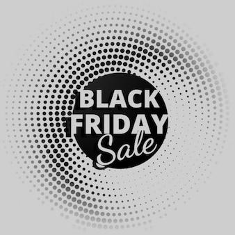 Zwarte vrijdag verkoop achtergrond in halftoon stijl