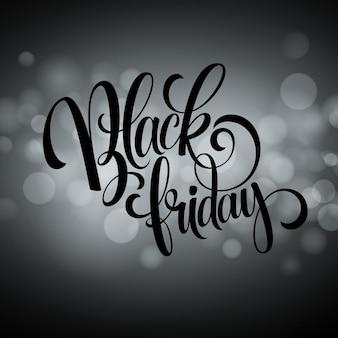 Zwarte vrijdag verkoop achtergrond. lichten bokeh achtergrond. vector illustratie eps10