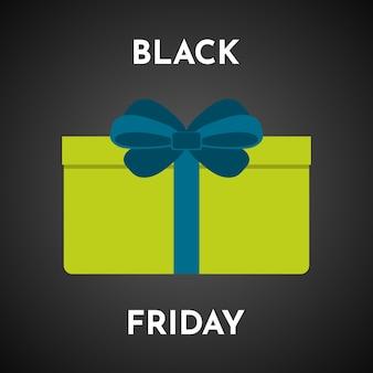 Zwarte vrijdag verkoop achtergrond met geschenkdoos. sjabloon voor brochure of spandoek. vector illustratie