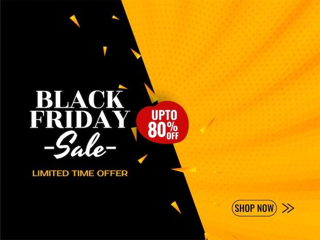 Zwarte vrijdag verkoop advertentie achtergrond