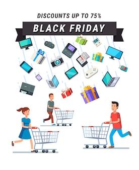 Zwarte vrijdag verkoop advertentie banner