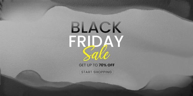 Zwarte vrijdag verkoop aquarel banner