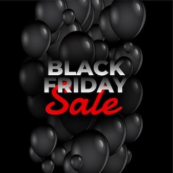 Zwarte vrijdag verkoop ballonnen