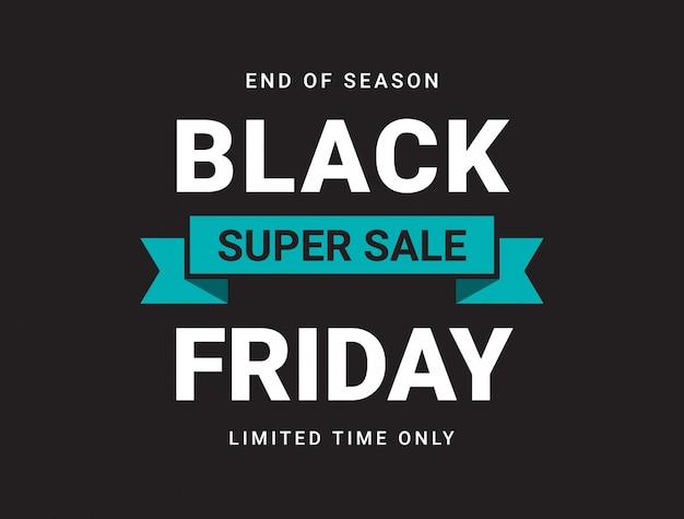 Zwarte vrijdag verkoop banner lay-out ontwerpsjabloon.