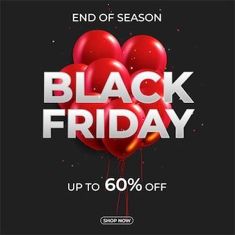 Zwarte vrijdag verkoop banner lay-outontwerp