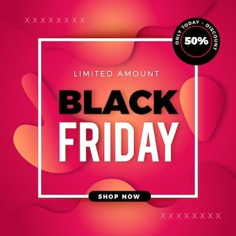 Zwarte vrijdag verkoop banner met kleurovergang
