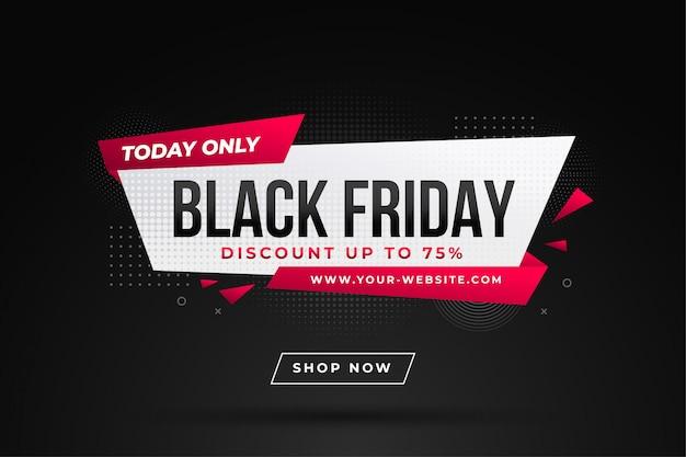 Zwarte vrijdag verkoop banner met kortingsdetails