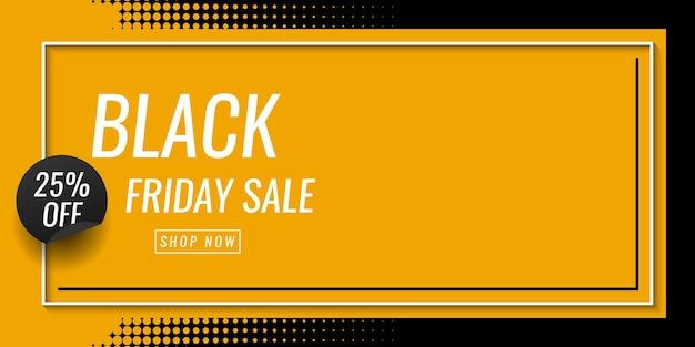 Zwarte vrijdag verkoop banner sjabloonontwerp