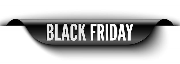 Zwarte vrijdag verkoop banner. sticker. illustratie.