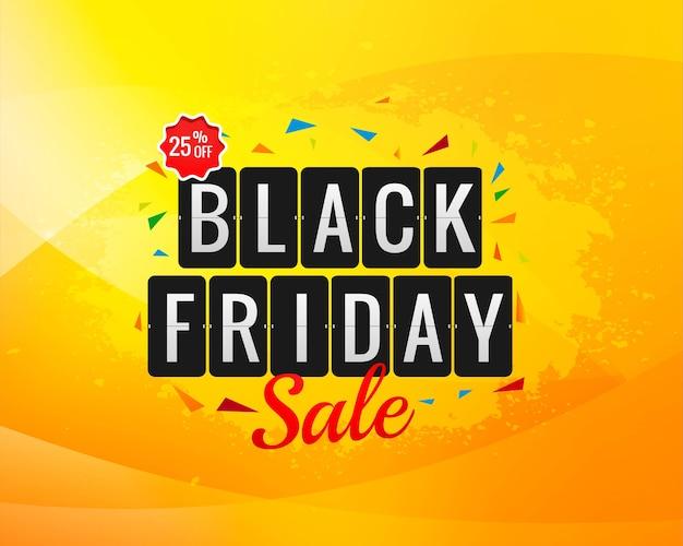 Zwarte vrijdag verkoop banner voor poster achtergrond