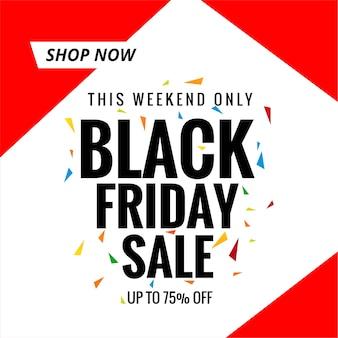 Zwarte vrijdag verkoop banner winkelen poster achtergrond