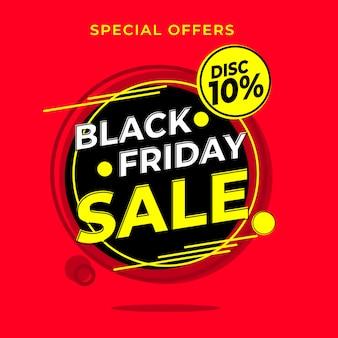 Zwarte vrijdag verkoop banner