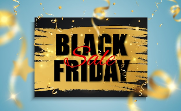 Zwarte vrijdag verkoop banner.