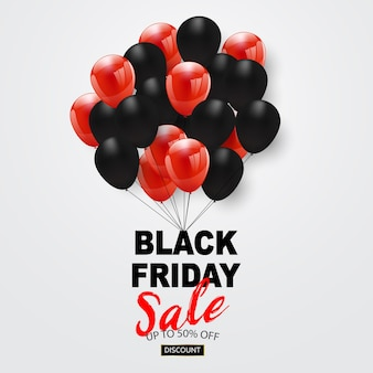 Zwarte vrijdag verkoop banner,