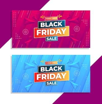 Zwarte vrijdag verkoop banners in moderne ontwerpsjabloon