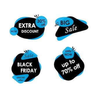 Zwarte vrijdag verkoop banners set