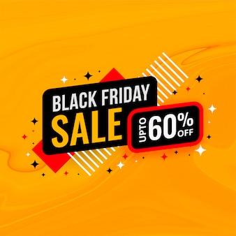 Zwarte vrijdag verkoop en korting sjabloon voor spandoek