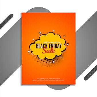 Zwarte vrijdag verkoop flyer komische stijl vector