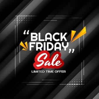 Zwarte vrijdag verkoop glanzende zwarte achtergrond