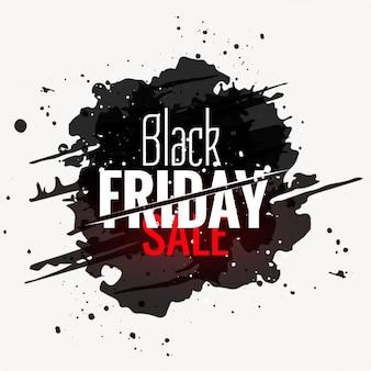 Zwarte vrijdag verkoop grunge stijl label