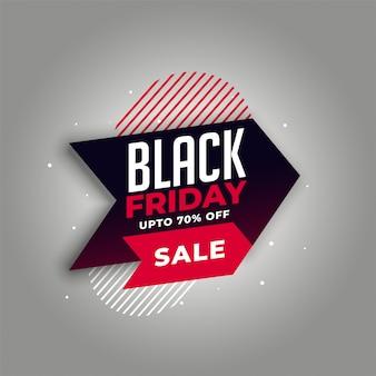 Zwarte vrijdag verkoop in pijlstijl