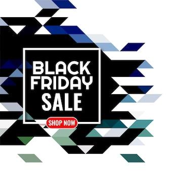 Zwarte vrijdag verkoop kleurrijke mozaïek achtergrond
