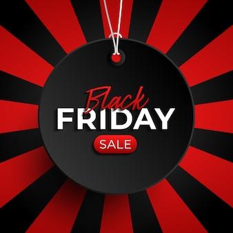 Zwarte vrijdag verkoop label cirkel banner