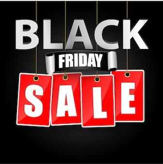 Zwarte vrijdag verkoop labelsjabloon