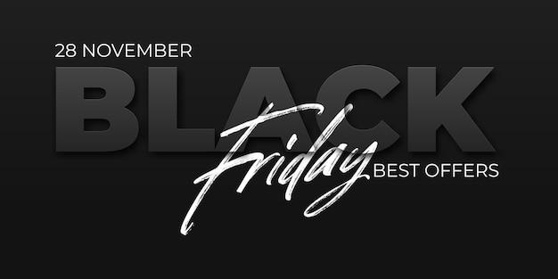 Zwarte vrijdag verkoop ontwerpsjabloon. conceptuele lay-out voor web en print.