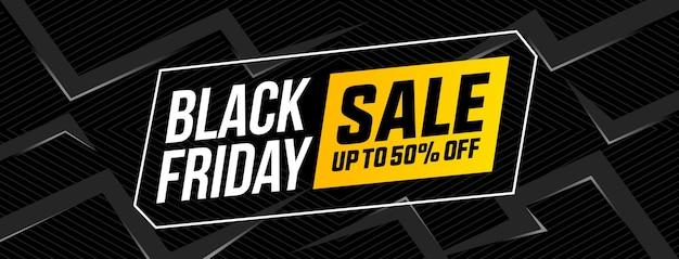 Zwarte vrijdag verkoop platte ontwerp banner