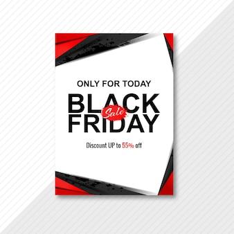 Zwarte vrijdag verkoop poster brochure