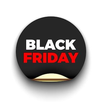 Zwarte vrijdag verkoop ronde sticker.