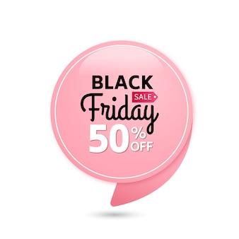 Zwarte vrijdag verkoop roze tag