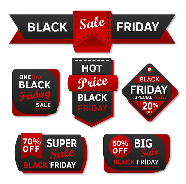 Zwarte vrijdag verkoop shopping tag