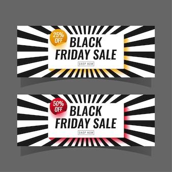 Zwarte vrijdag verkoop sjabloon voor spandoek instellen
