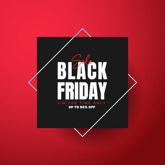 Zwarte vrijdag verkoop sjabloon voor spandoek