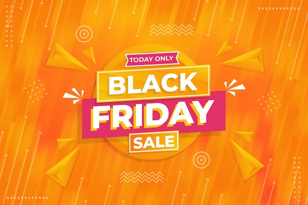 Zwarte vrijdag verkoop sjabloonontwerp in plat ontwerp