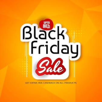 Zwarte vrijdag verkoop stijlvolle gele achtergrond