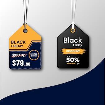 Zwarte vrijdag verkoop tags