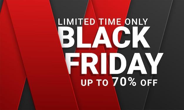 Zwarte vrijdag verkoop vector sjabloon