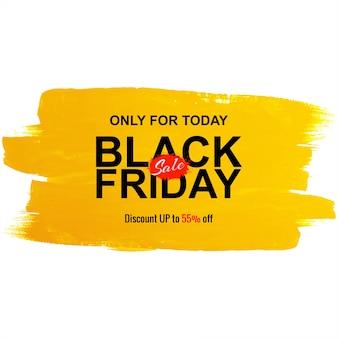 Zwarte vrijdag verkoop voor aquarel penseel achtergrond
