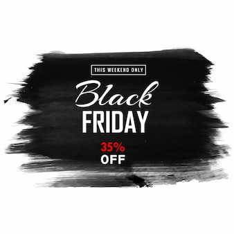 Zwarte vrijdag verkoop voor hand tekenen penseel achtergrond