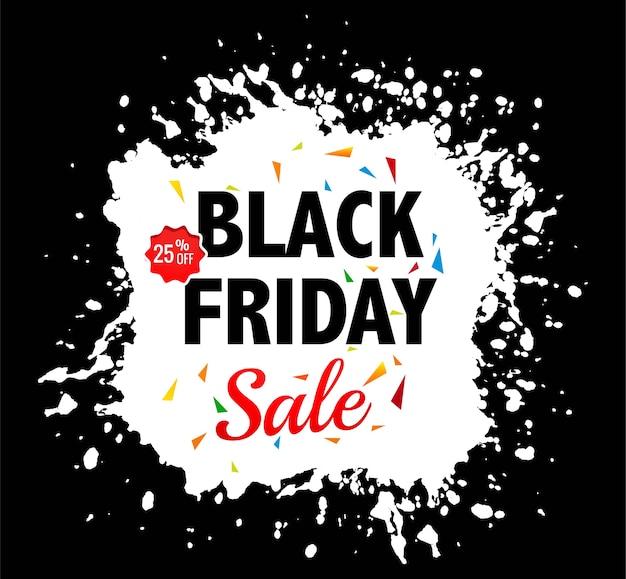 Zwarte vrijdag verkoop voor splash achtergrond