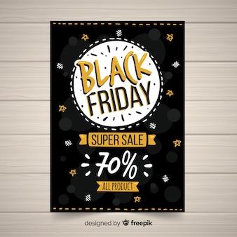 Zwarte vrijdag verkoopsjabloon banner
