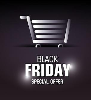 Zwarte vrijdag winkelen seizoen