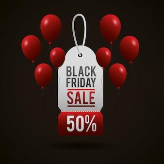 Zwarte vrijdag winkelen verkoop achtergrond