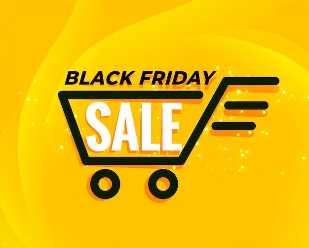 Zwarte vrijdag winkelwagen verkoop achtergrond