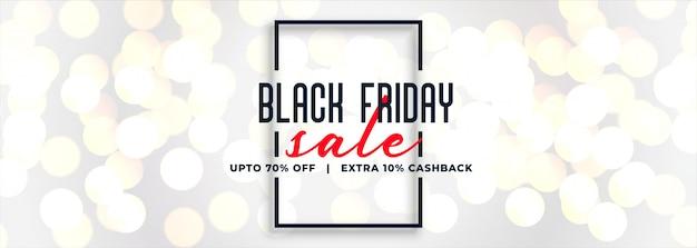Zwarte vrijdag witte verkoop bokeh banner